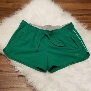 NIKE Athletic Dept. Running Shorts, Green, Size XL